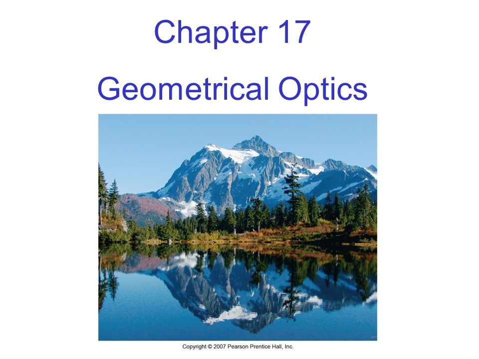 Units of Chapter 17 The Reflection of Light Ray diagram for plane mirror Spherical Mirrors Ray Tracing and the Mirror Equation