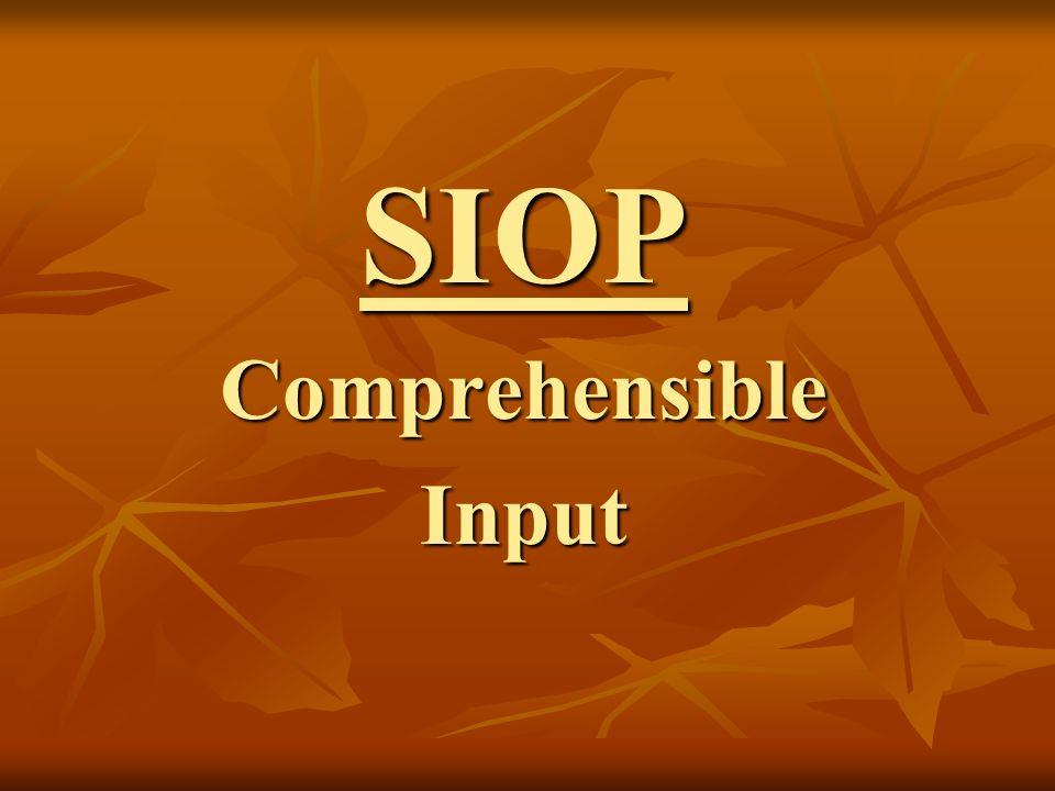 SIOPComprehensibleInput