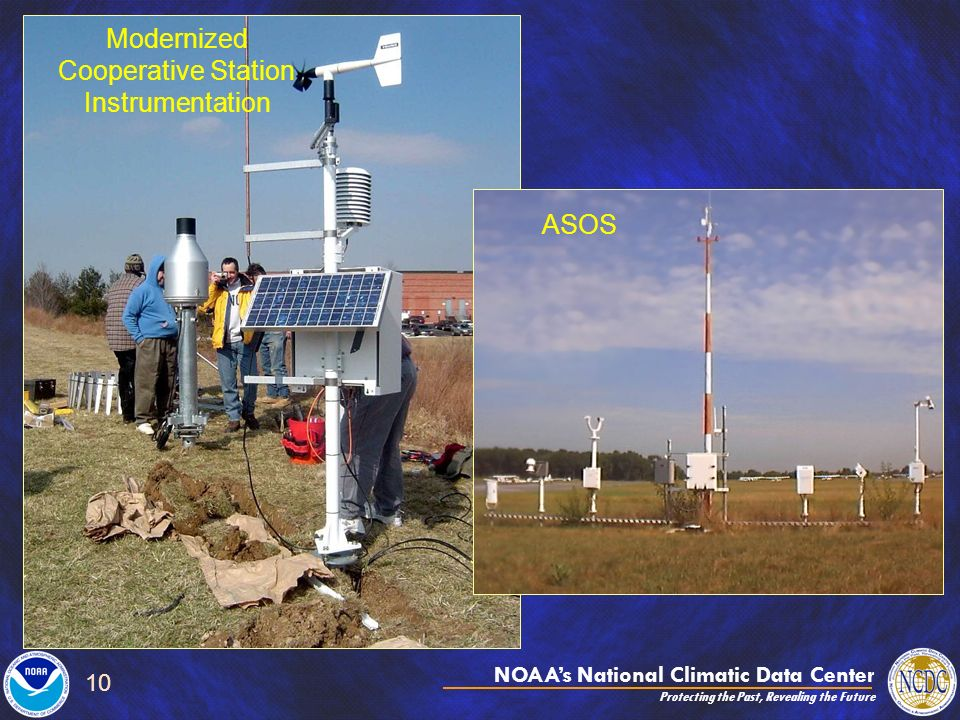 NOAAs National Climatic Data Center Protecting the Past, Revealing the Future 10 Modernized Cooperative Station Instrumentation ASOS