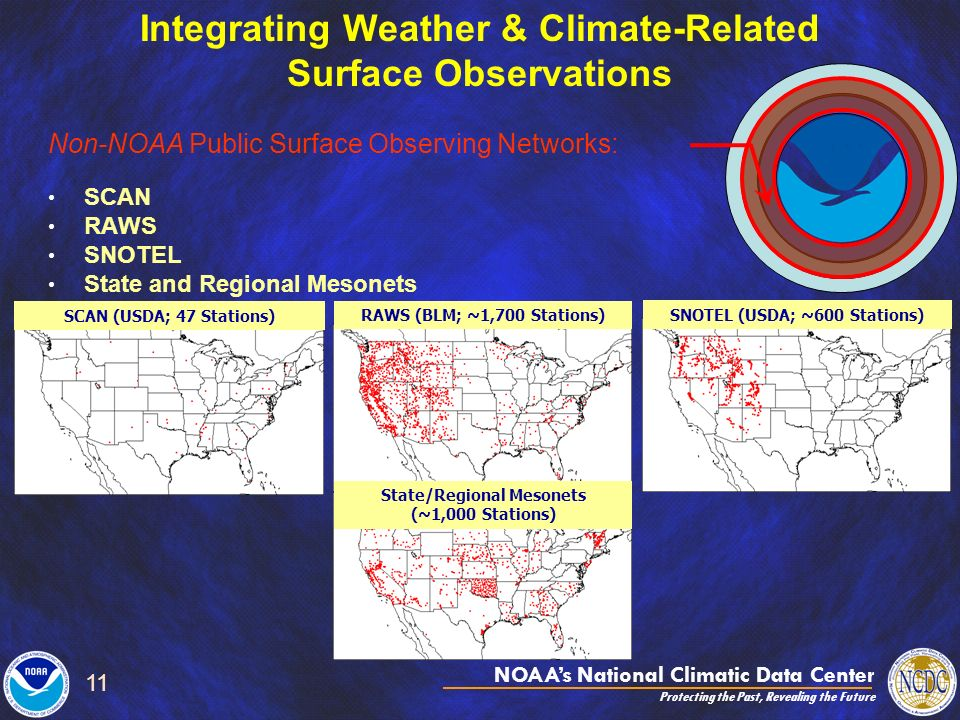 NOAAs National Climatic Data Center Protecting the Past, Revealing the Future 11 Integrating Weather & Climate-Related Surface Observations Non-NOAA P