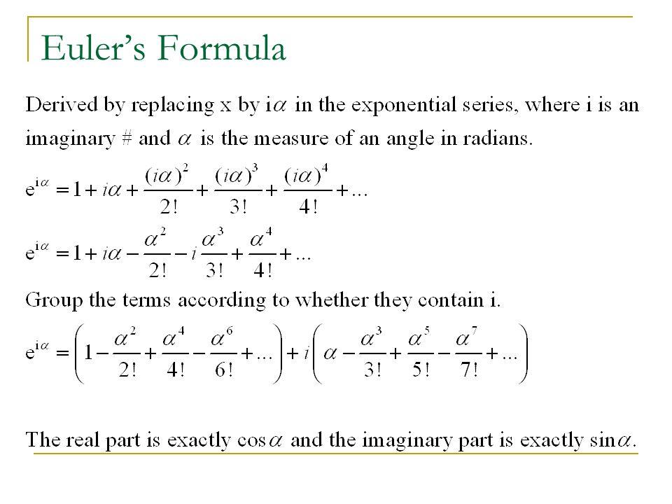 Eulers Formula