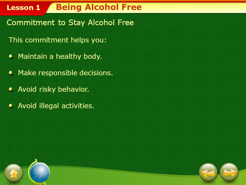 Lesson 1 Alcohol and Extracurricular Activities Most schools have adopted a zero-tolerance policy for students found using alcohol. If caught, student