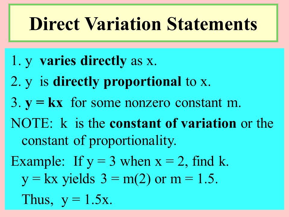 1 PRECALCULUS I Dr. Claude S. Moore Danville Community College Mathematical Modeling Direct, inverse, joint variations; Least squares regression
