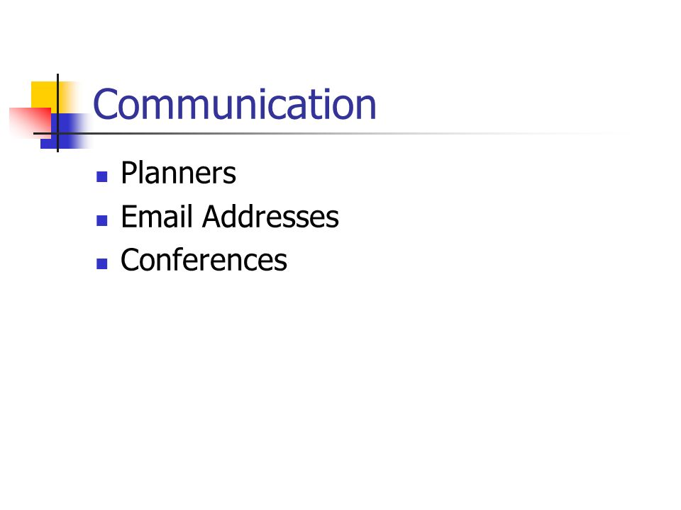 Communication Planners Email Addresses Conferences