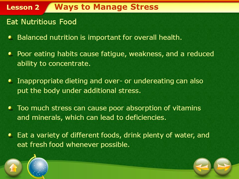 Lesson 2 Eat Nutritious Food Balanced nutrition is important for overall health.