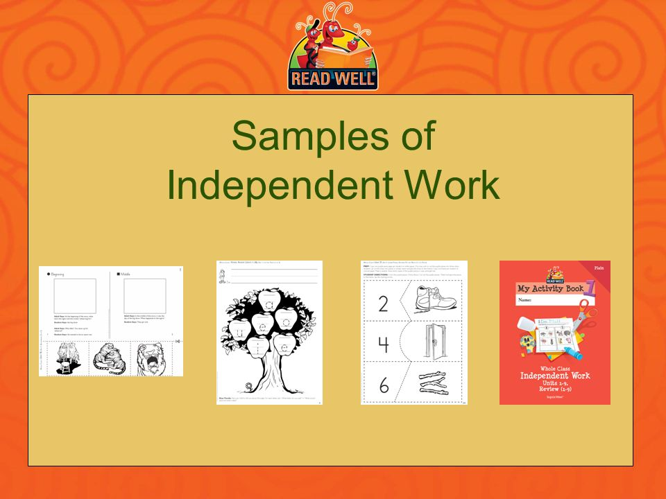 Samples of Independent Work