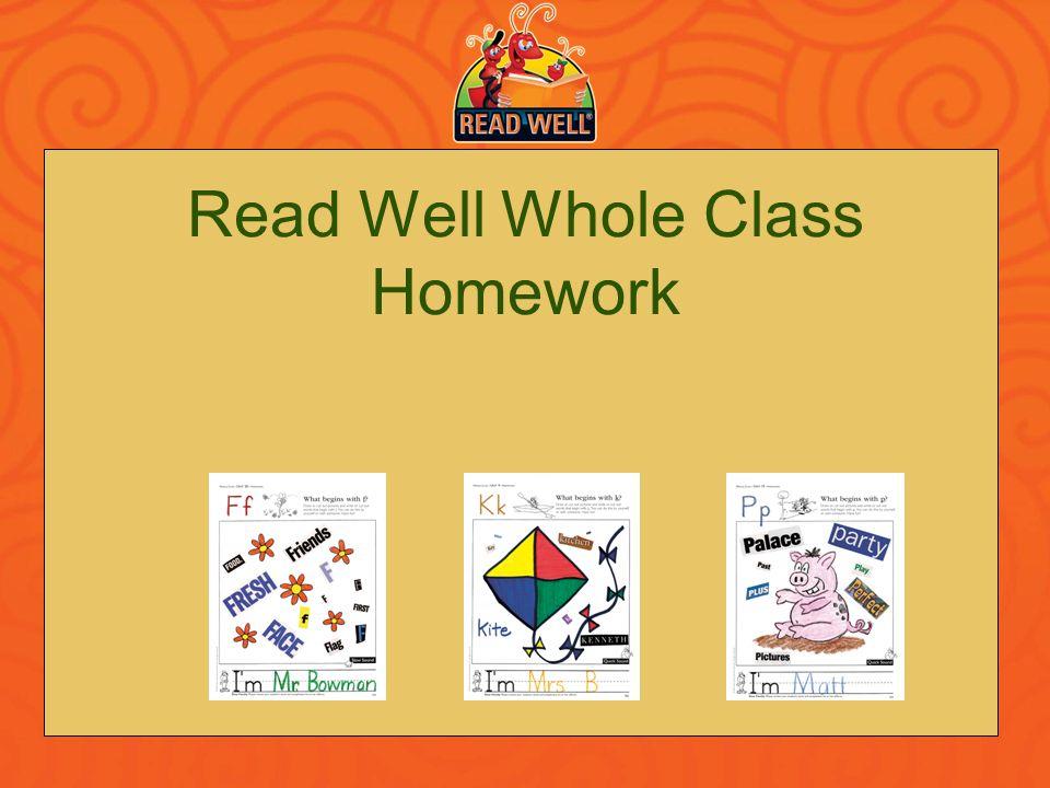 Read Well Whole Class Homework