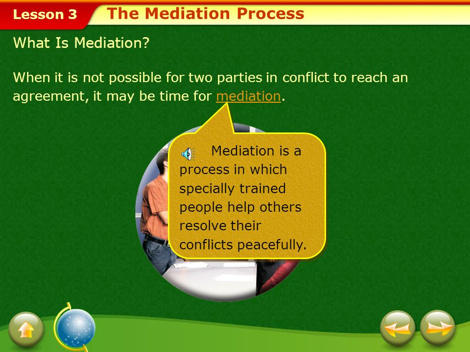 Lesson 3 The negotiation process involves the following:negotiation Talking Listening Considering the other persons point of view Compromising, if nec