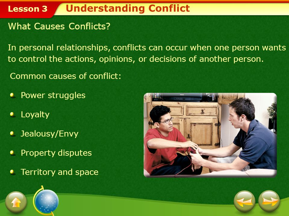 Lesson 3 The types of conflicts that impact relationships are interpersonal conflicts.conflicts Interpersonal Conflicts Conflicts often occur when one