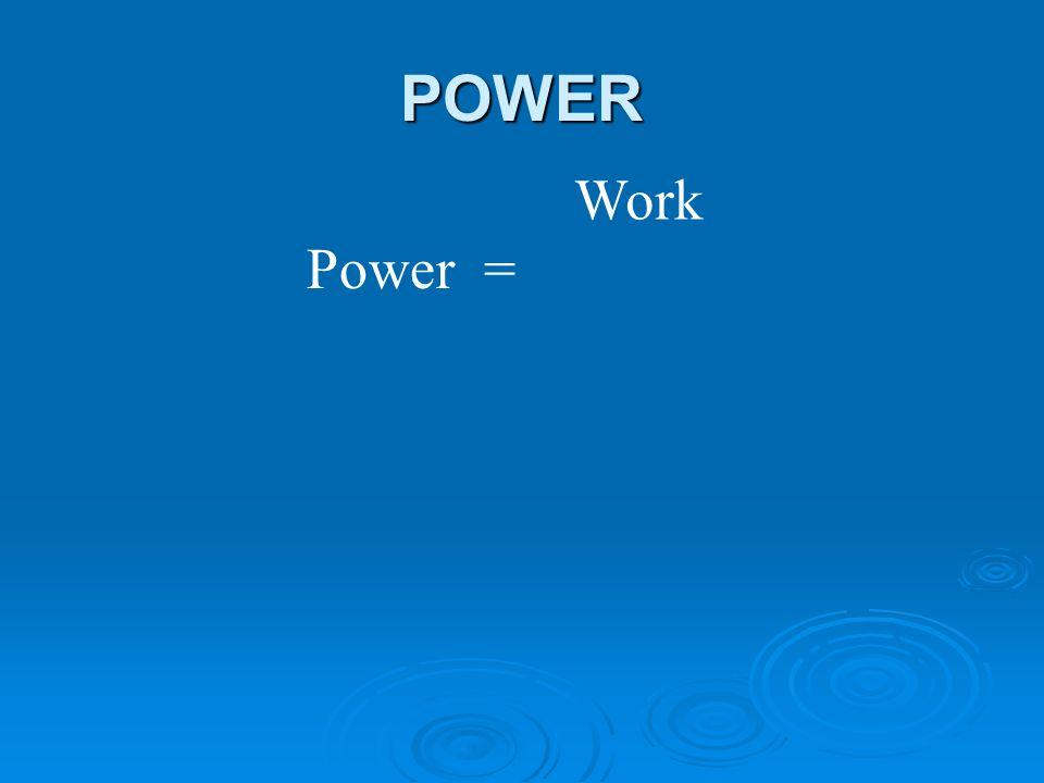 POWER Work