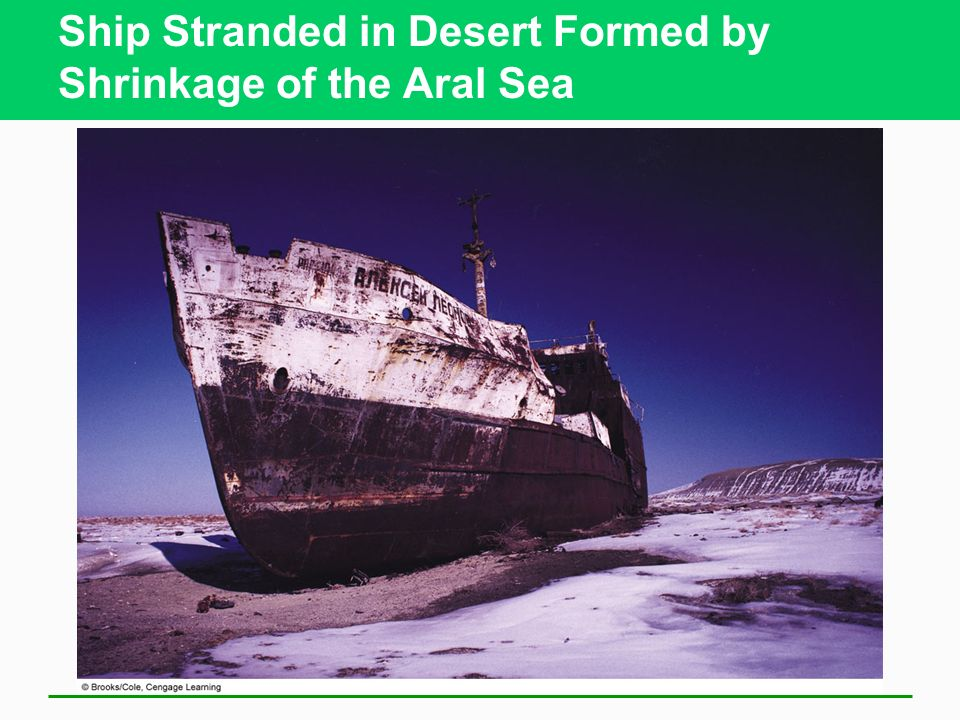 Ship Stranded in Desert Formed by Shrinkage of the Aral Sea
