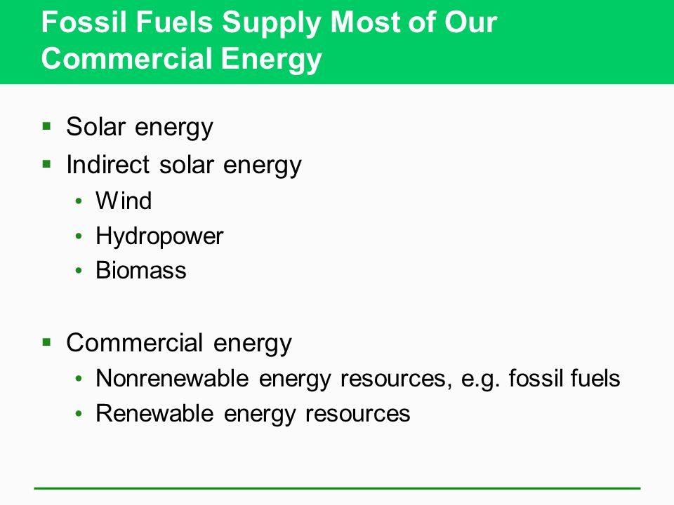 Natural Gas Is a Useful and Clean- Burning Fossil Fuel (2) Unconventional natural gas Coal bed methane gas Methane hydrate