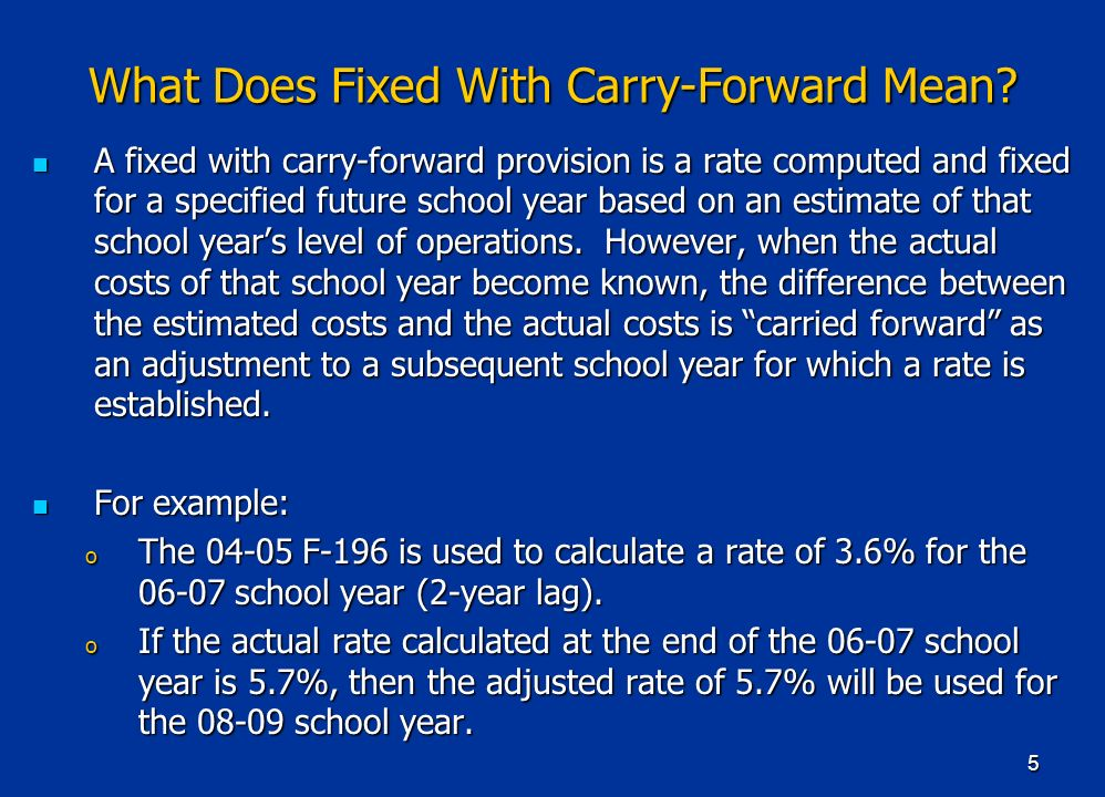 5 What Does Fixed With Carry-Forward Mean.