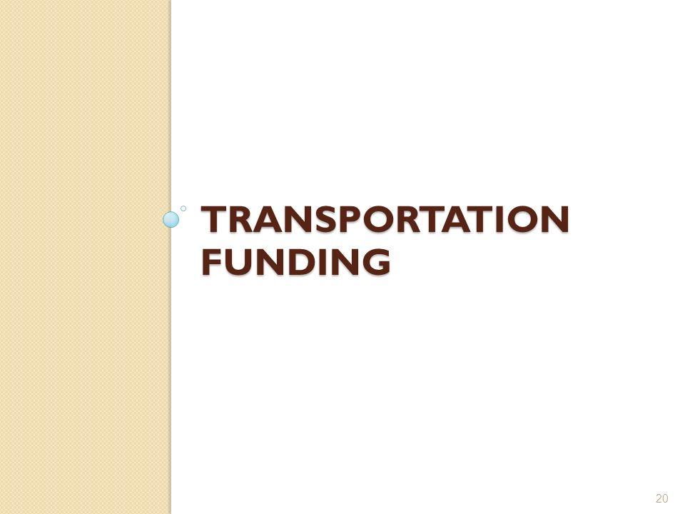 TRANSPORTATION FUNDING 20
