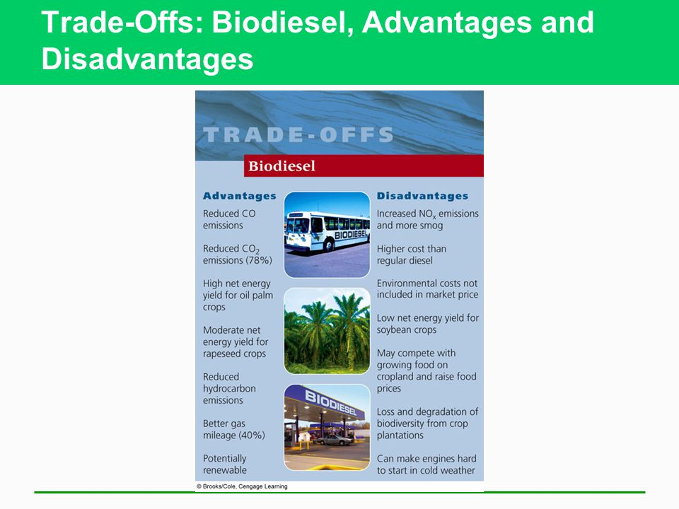 Trade-Offs: Biodiesel, Advantages and Disadvantages
