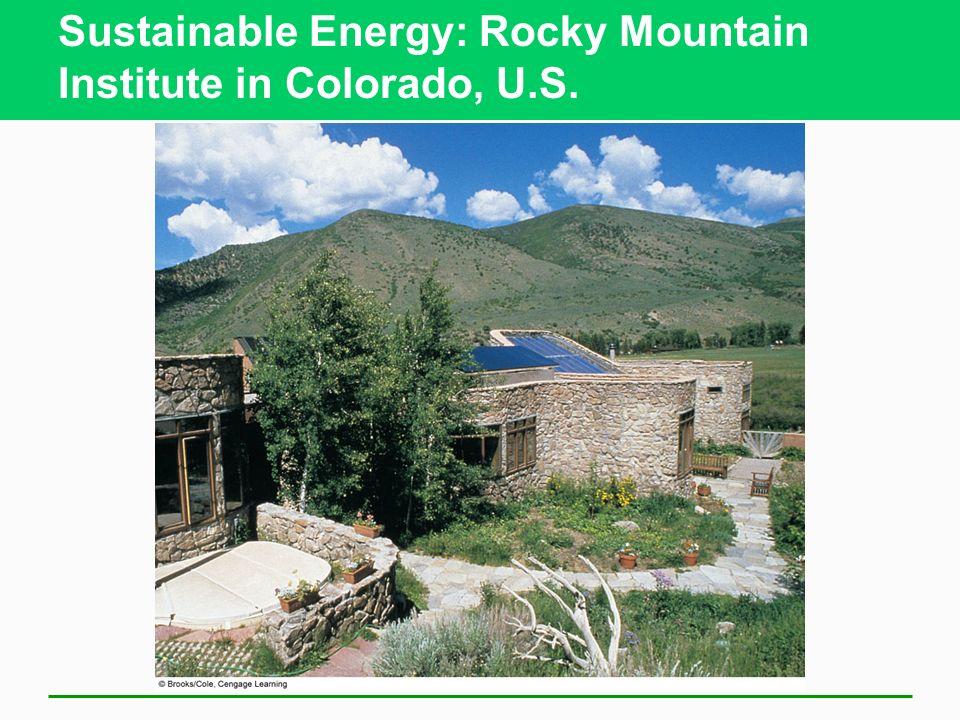 Sustainable Energy: Rocky Mountain Institute in Colorado, U.S.