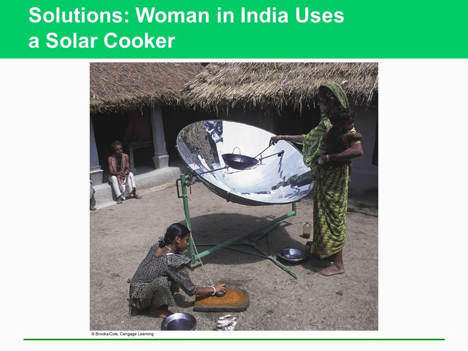 Solutions: Woman in India Uses a Solar Cooker