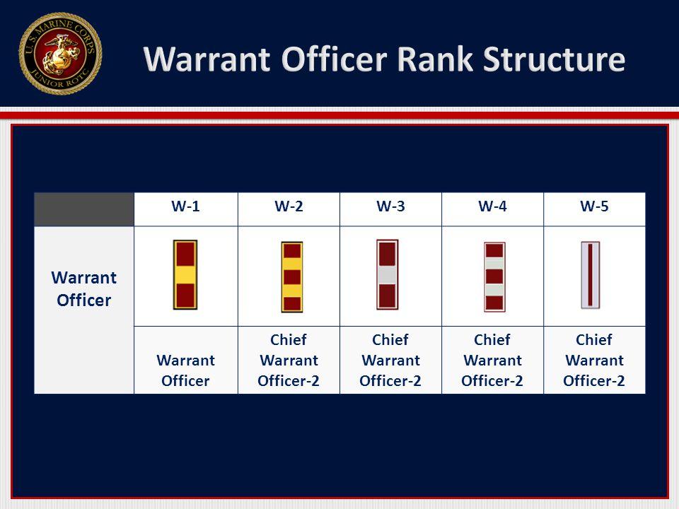 W-1W-2W-3W-4W-5 Warrant Officer Chief Warrant Officer-2