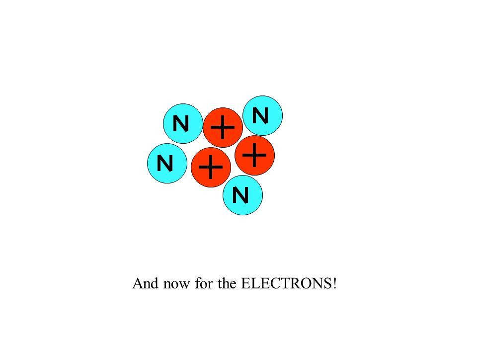 And now for the ELECTRONS!