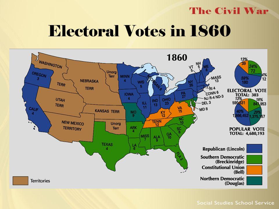 Electoral Votes in 1860