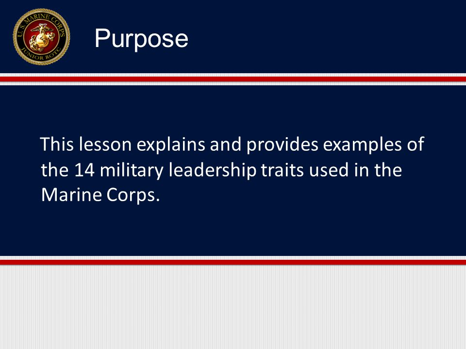 1.Provide a definition and example of each of the 14 leadership traits.
