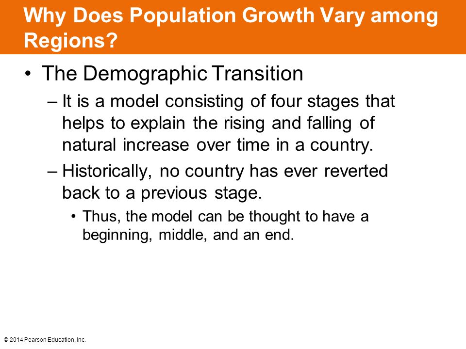 The Demographic Transition –It is a model consisting of four stages that helps to explain the rising and falling of natural increase over time in a co