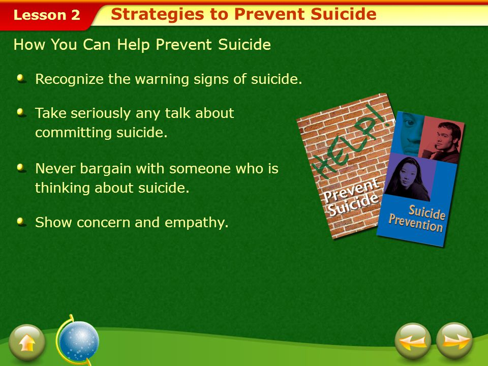 Lesson 2 Teen Suicide: Recognizing the Warning Signs Suicide Risk Factors