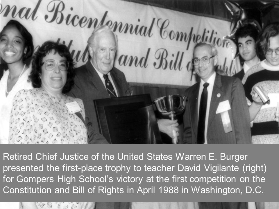 Retired Chief Justice of the United States Warren E.