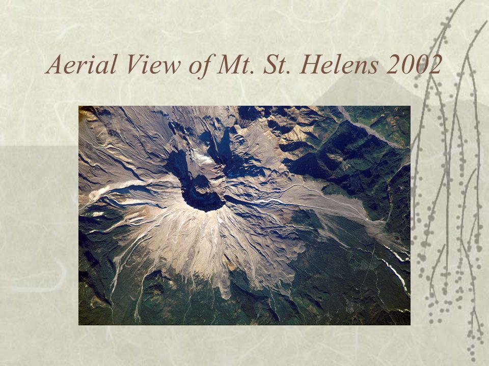 Aerial View of Mt. St. Helens 2002