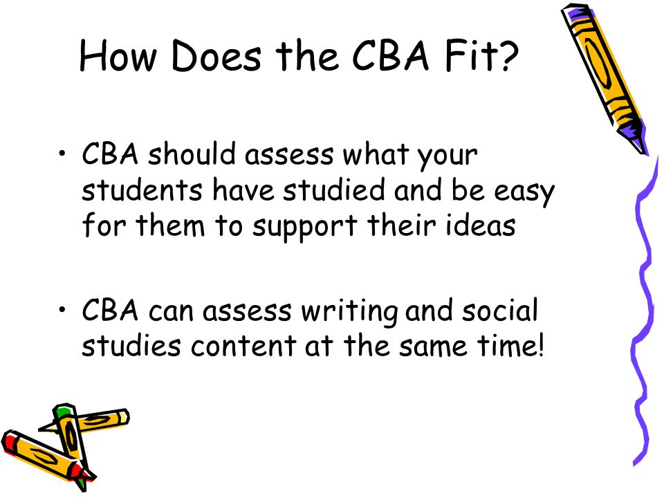 How Does the CBA Fit.