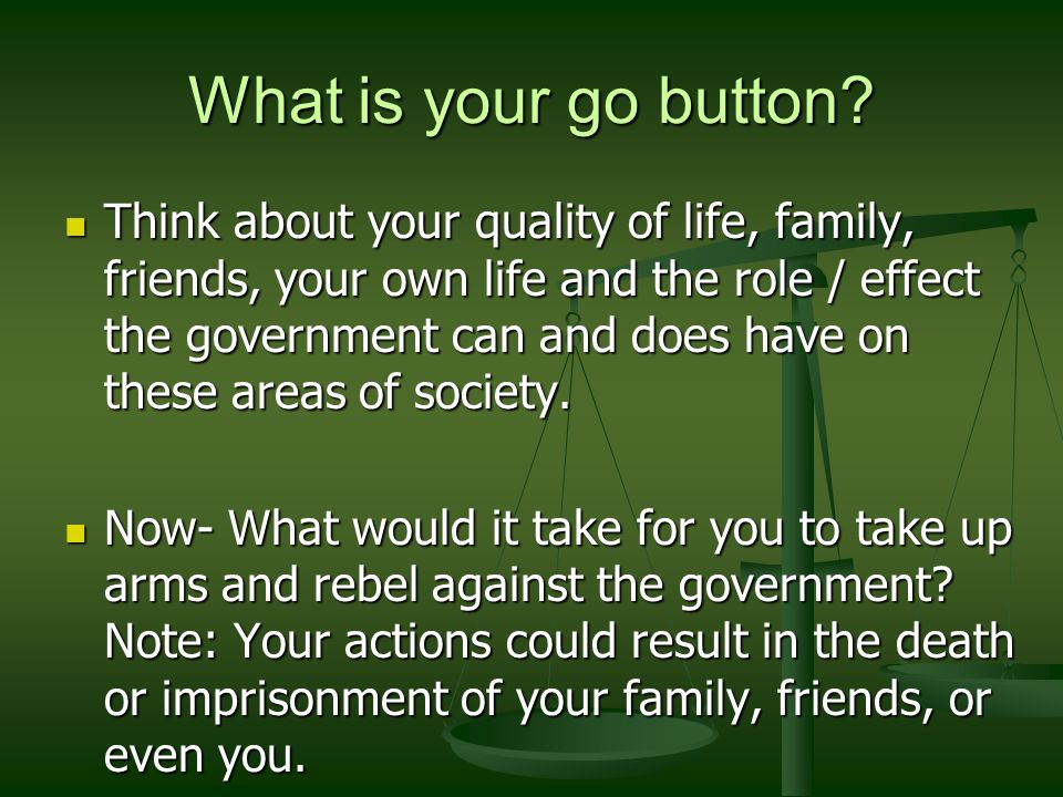 What is your go button.