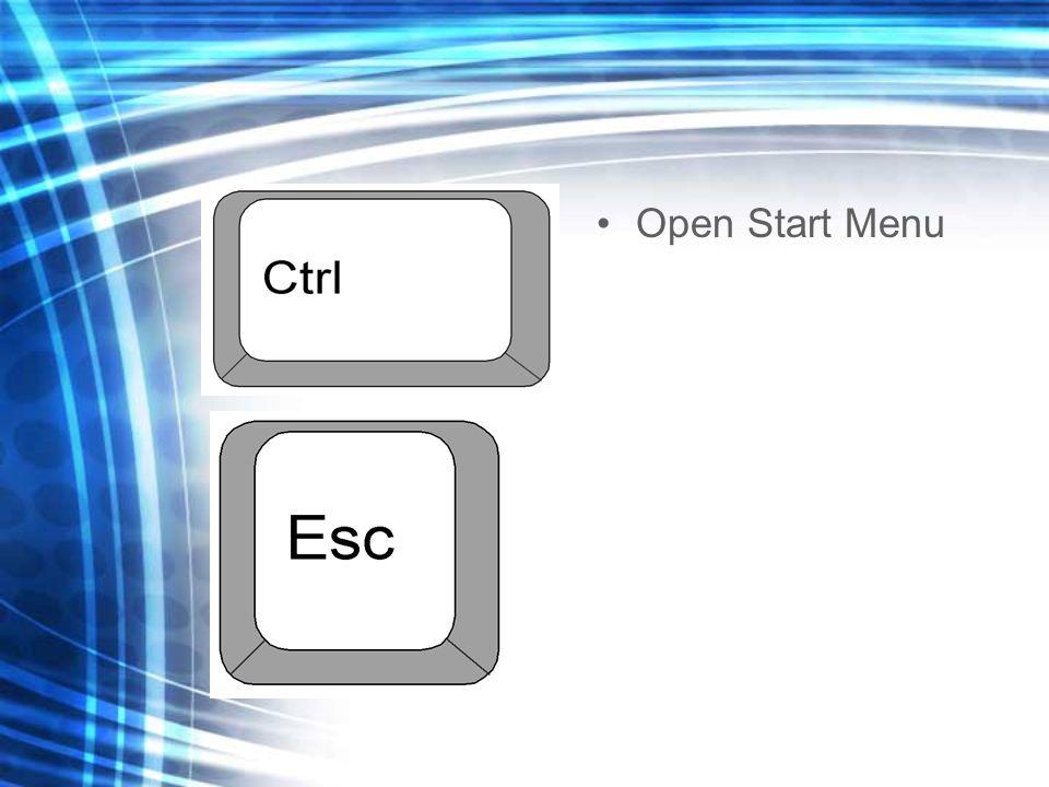 Open Start Menu