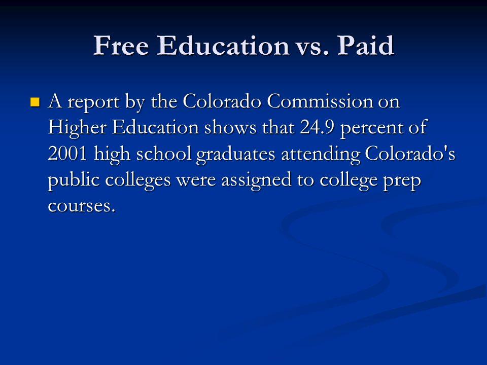 Free Education vs.