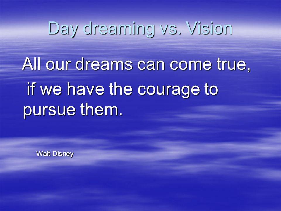 Day dreaming vs.