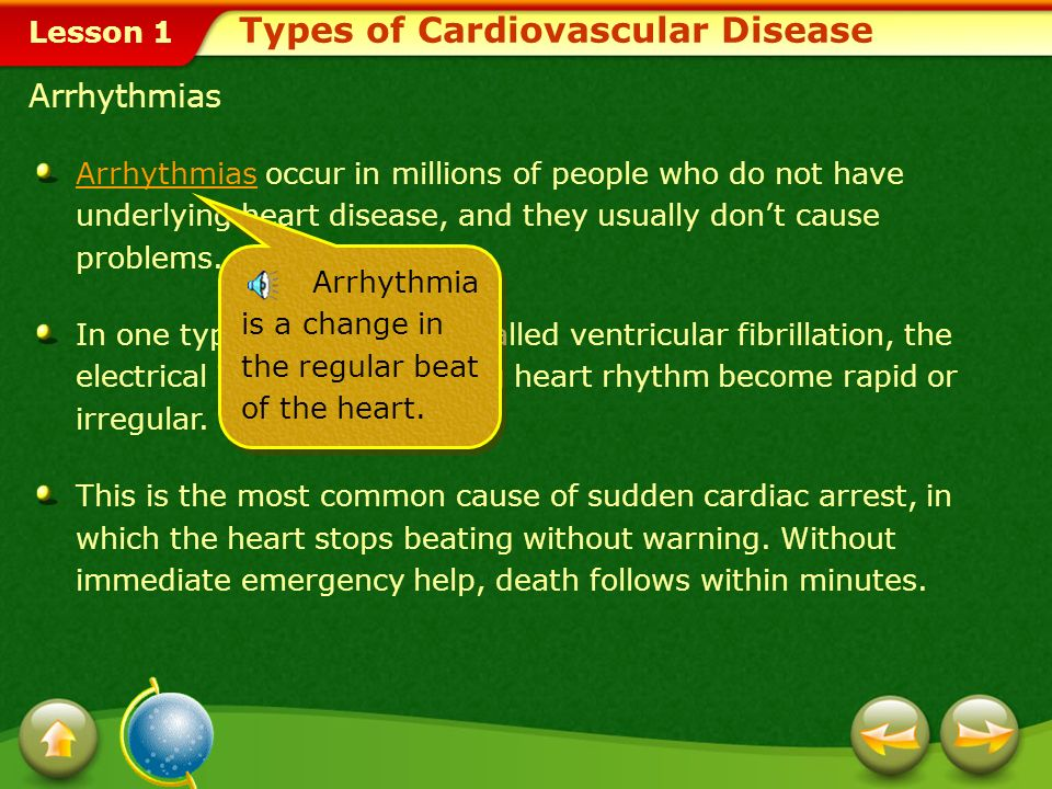 Lesson 1 Types of Cardiovascular Disease Angina Pectoris Angina pectoris Angina pectoris, which usually lasts from a few seconds to minutes, is a warn