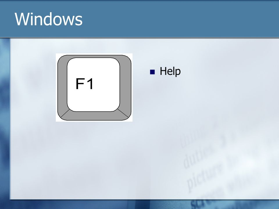 Help Windows