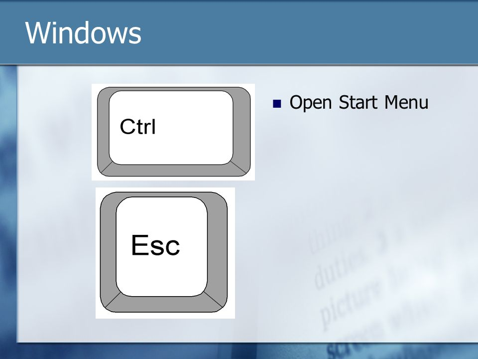 Open Start Menu Windows