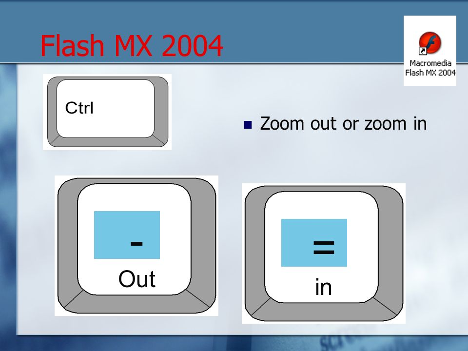 Zoom out or zoom in - Out = in Flash MX 2004