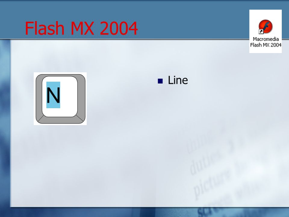 Line N Flash MX 2004