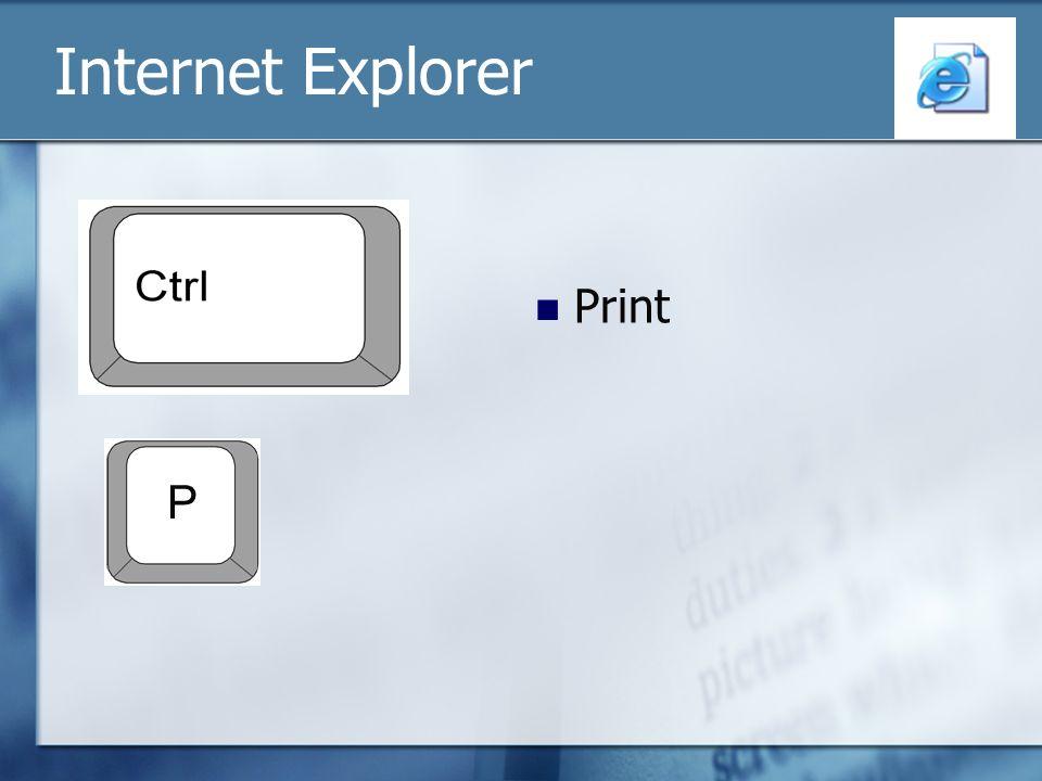 Internet Explorer Print P