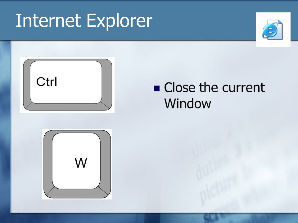 Internet Explorer Close the current Window W