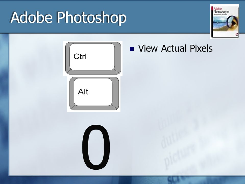0 View Actual Pixels Adobe Photoshop