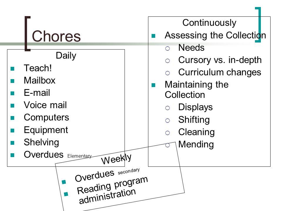 Chores Daily Teach.