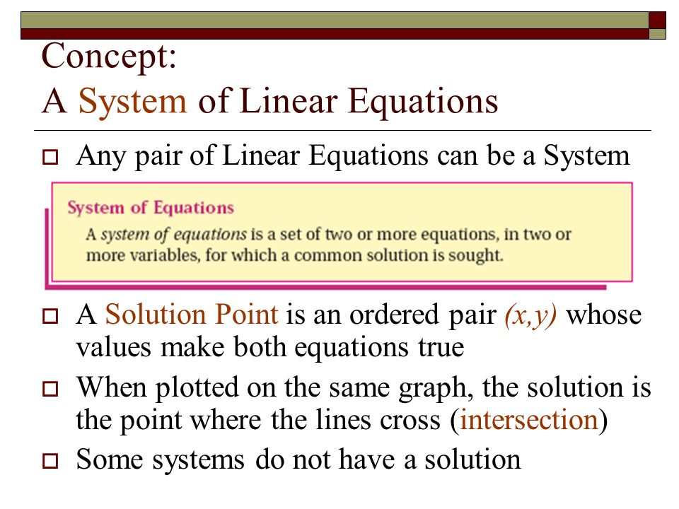 Why Study Systems of Equations.