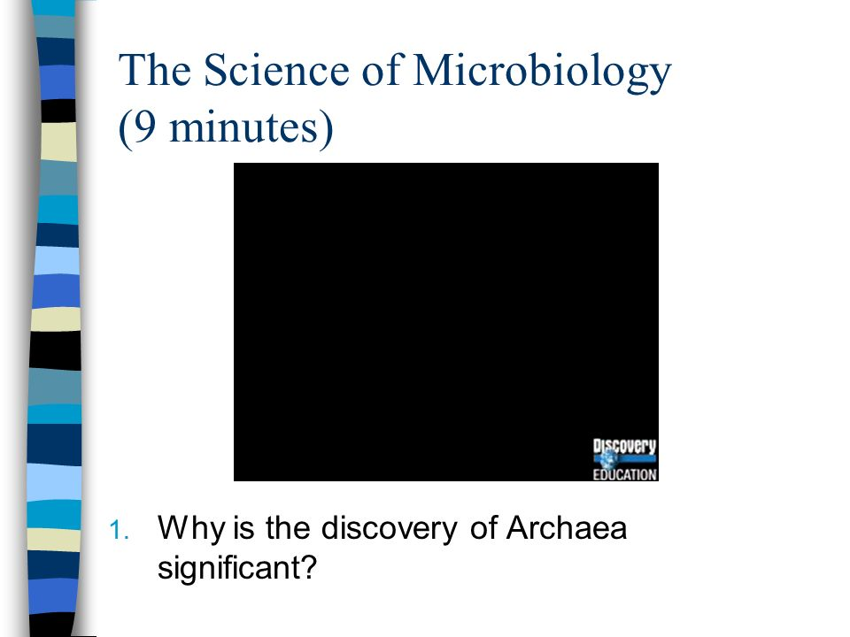 The Science of Microbiology (9 minutes) 1. Why is the discovery of Archaea significant?