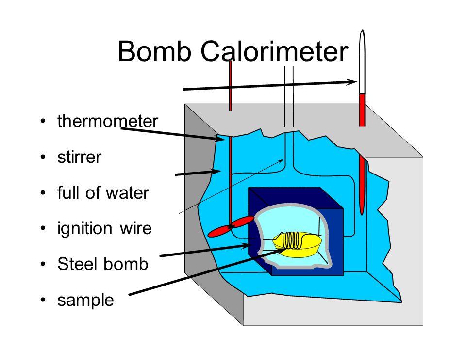 Equation For Bomb Calorimeter Bomb Calorimeter Thermometer