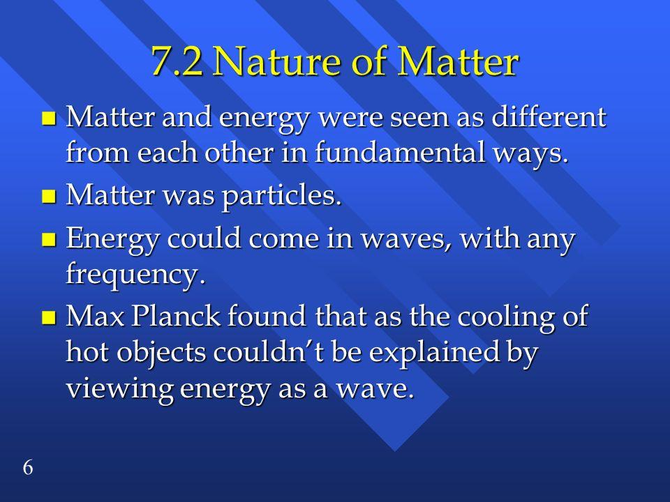 17 The Bohr Model n n is the energy level (an integer).