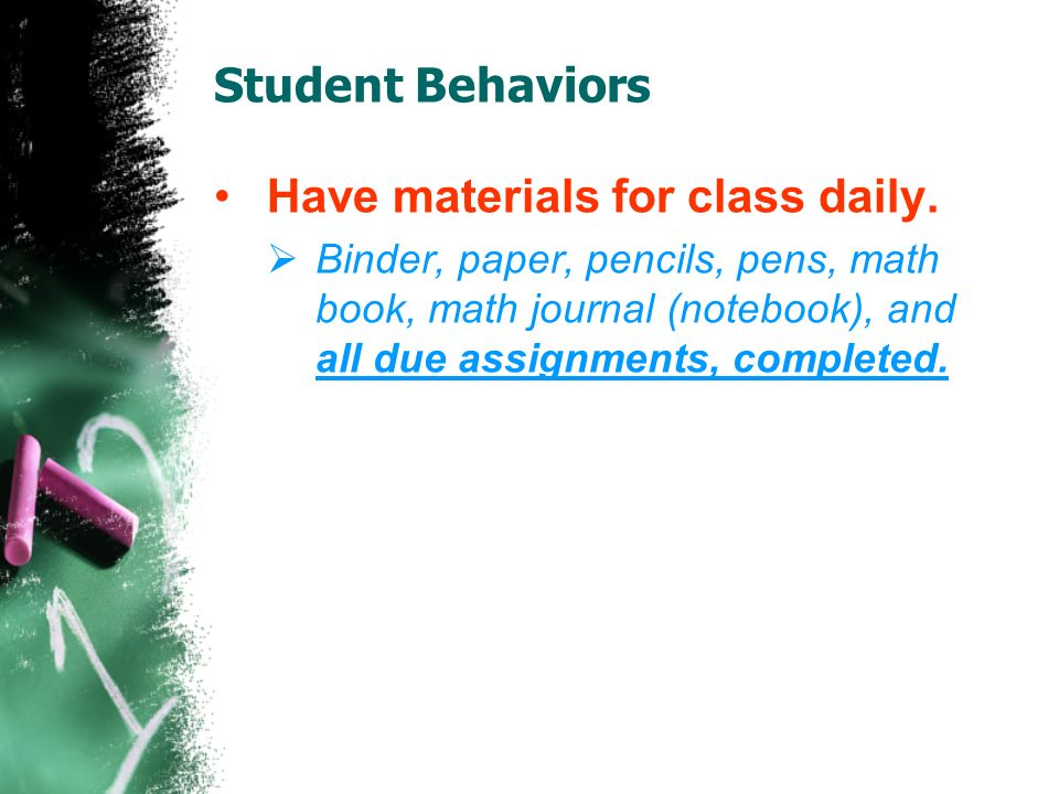 Student Behaviors Resolve conflicts in an appropriate manner.