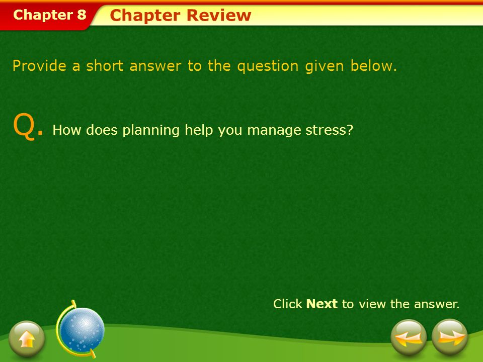 Chapter 8 Chapter Review Provide a short answer to the question given below.