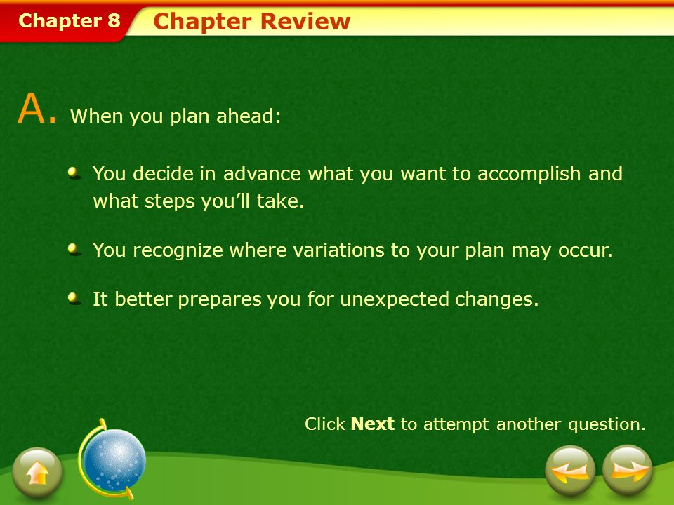 Chapter 8 Chapter Review A.